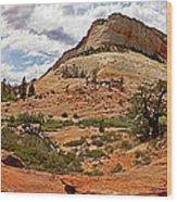Zion Checkerboard Mesa And Hoodoos Wood Print