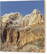 Zion Cliffs Wood Print