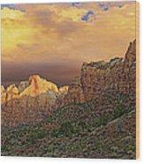 Zion National Park Sunrise II Wood Print