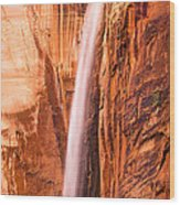 Zion Waterfall Wood Print
