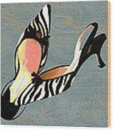 Zippy Zebra Slings Wood Print