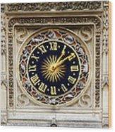 Zodiac Clock Wood Print