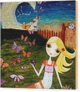 Zodiac Virgo Wood Print by Laura Bell