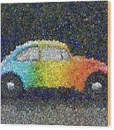 Zodiac Vw Bug Mosaic Wood Print
