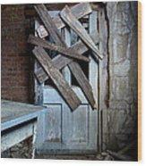 Zombie Door Wood Print
