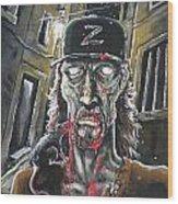 Zombie Tom Wood Print
