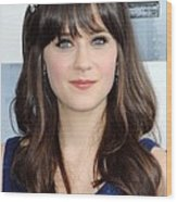 Zooey Deschanel At Arrivals For Film Wood Print by Everett