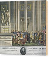 Z.taylor: Inauguration Wood Print by Granger