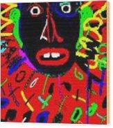 Zulu Red Wood Print