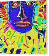 Zulu Yellow- Turquoise Wood Print