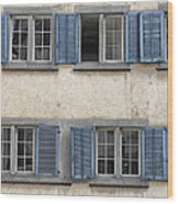 Zurich Window Shutters Wood Print