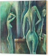 ' Moonlight ' Wood Print
