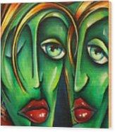 ' Twins ' Wood Print