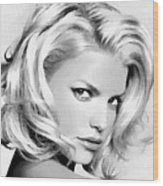 # 3 Jessica Simpson Portrait Wood Print