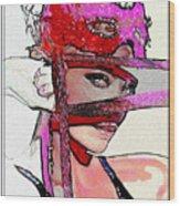 # 39 Charlize Theron Portrait Wood Print