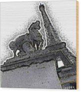 # 4 Paris France Wood Print