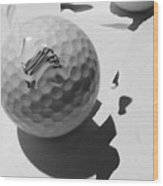 A Golf Ball On Holiday Wood Print