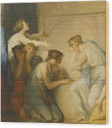 A Group Of Female Mourners At The Tomb Of Achilles Wood Print