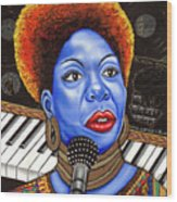 A Part Of Nina Simone Wood Print
