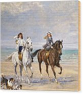 A Ride By The Sea Wood Print