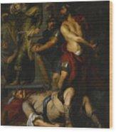 A Roman Execution Wood Print