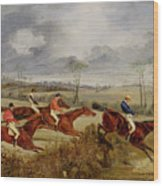 A Steeplechase - Near The Finish Wood Print