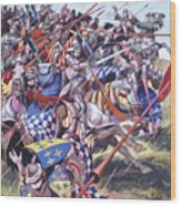 Agincourt The Impossible Victory 25 October 1415 Wood Print
