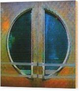 Art Deco Door In Halifax Nova Scotia Wood Print