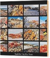 ' Australia Rocks ' - Bay Of Fires - Tasmania Wood Print