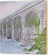 Ballydehob Bridge Ireland Wood Print