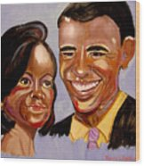 Barak And Michelle Obama   The Power Of Love Wood Print