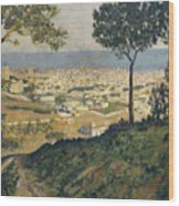 Barcelona Seen From Vallvidrera Wood Print
