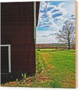 Barn Corner Wood Print