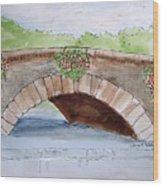 Baskets Of Flowers On Bridge To Westport Ireland Wood Print
