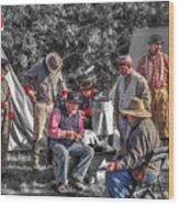 Battle Of Honey Springs V1 Wood Print
