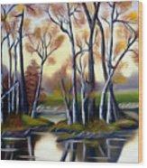 Birch Bay Lagoon Dreamy Mirage Wood Print