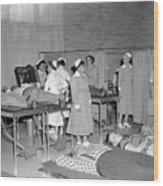Blood Drive 1958 Black White 1950s Archive Brick Wood Print