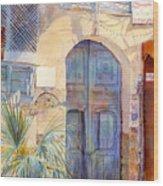 Blue Door  Wood Print by Dorothy Boyer