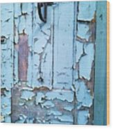 Blue Door In The Old South Wood Print by Shawn Hughes