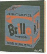 Brillo Box Colored 16 - Warhol Inspired Wood Print