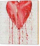 Broken Heart - Bleeding Heart Wood Print