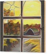 Broken Window Dreamy Mirage Wood Print