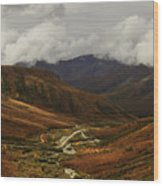 Brooks Range, Dalton Highway And The Trans Alaska Pipeline  Wood Print