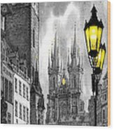 Bw Prague Old Town Squere Wood Print