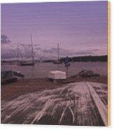 Canadian Harbor At Dusk  Wood Print