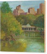 Central Park New York Boathouse Wood Print