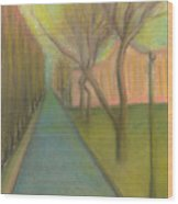 City, Street, 12 May 2015 Wood Print