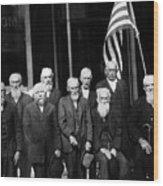 Civil War Veterans October 8 1923 Black White Wood Print