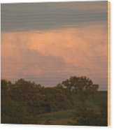 Clouds Of A Distant Storm Wood Print