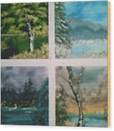 Colors Of Landscape Wood Print